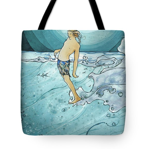 Night Surf Tote Bag