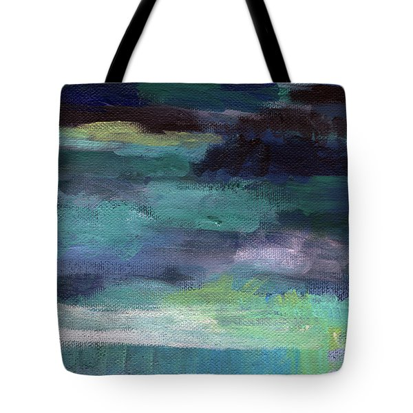 Night Swim- Abstract Art Tote Bag