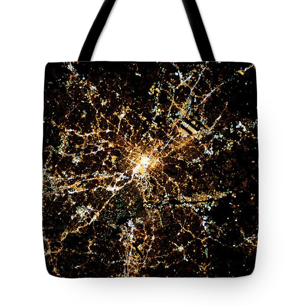 Night Time Satellite Image Of Atlanta Tote Bag