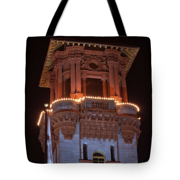 Night Tower Tote Bag by Kenneth Albin