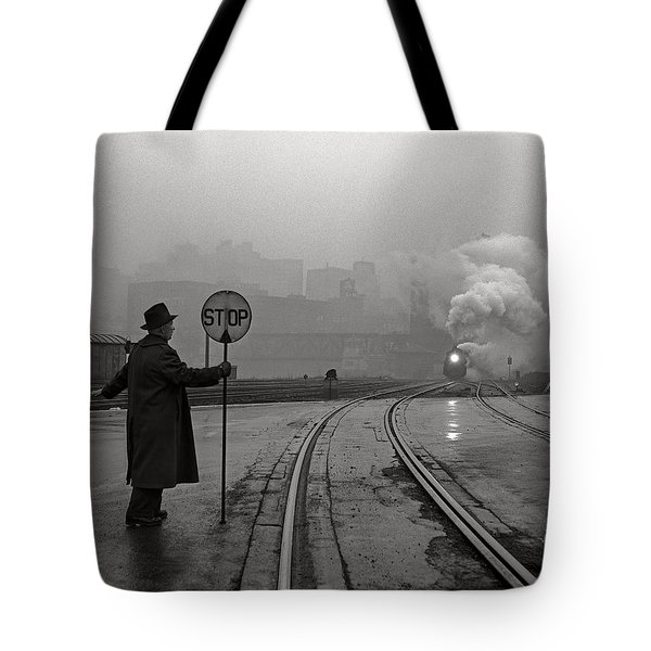 Night Train Thru Fog Tote Bag