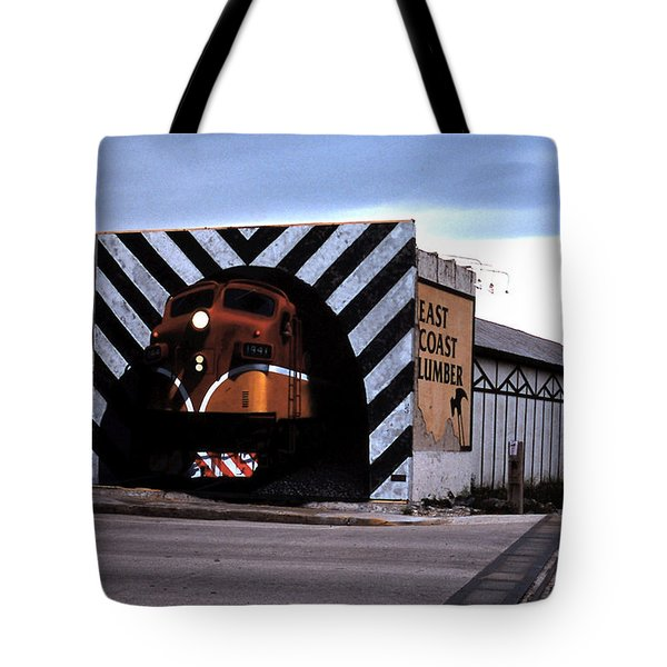 Night Train Tote Bag by Blue Sky