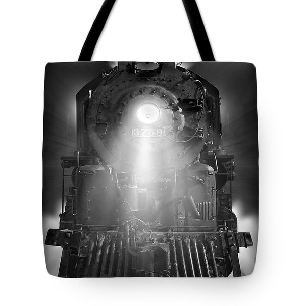 Night Train On The Move Tote Bag by Mike McGlothlen