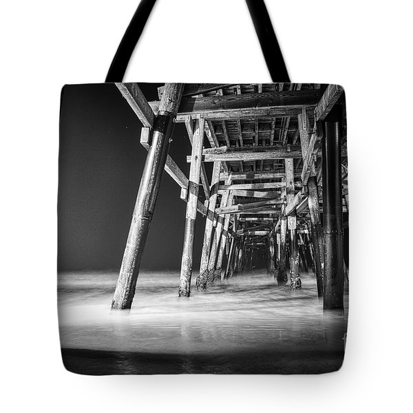 Night View Under San Clemente Pier Tote Bag