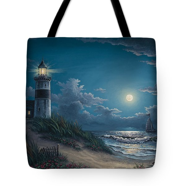 Tote Bag featuring the painting Night Watch by Kyle Wood
