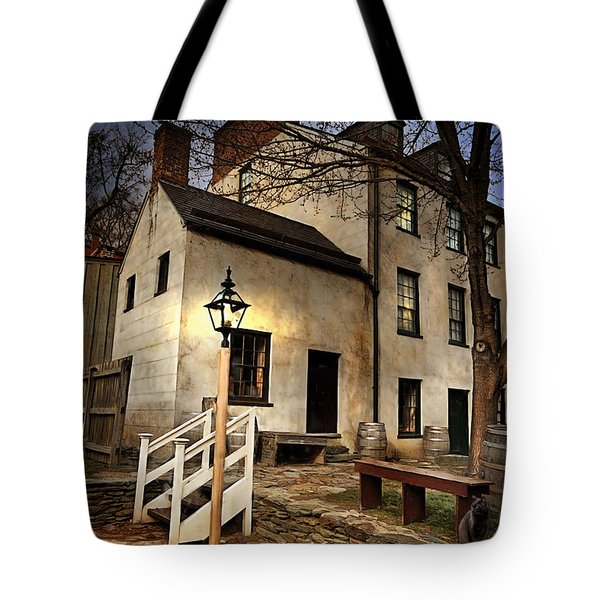Tote Bag featuring the digital art Night Watchman by Mary Almond