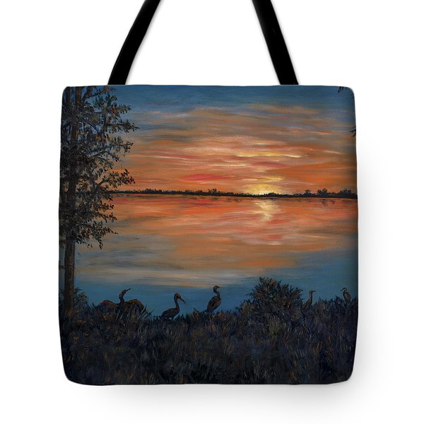 Nightfall At Loxahatchee Tote Bag