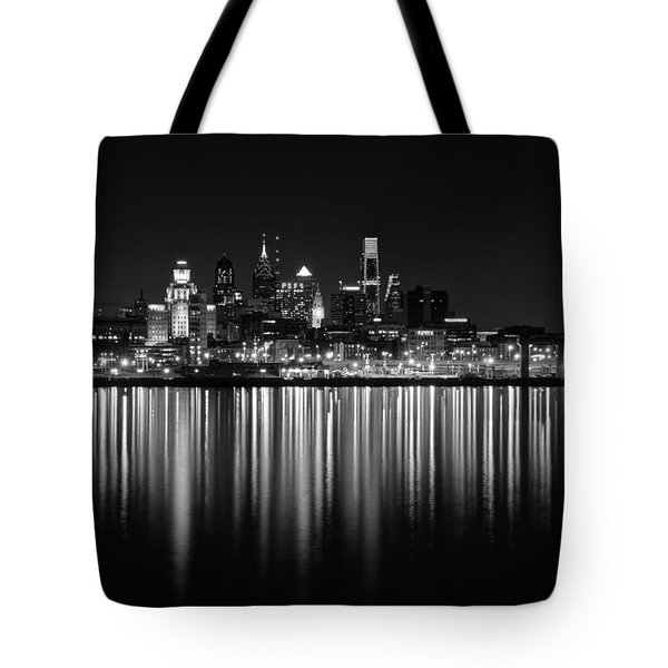 Nightfall In Philly B/w Tote Bag