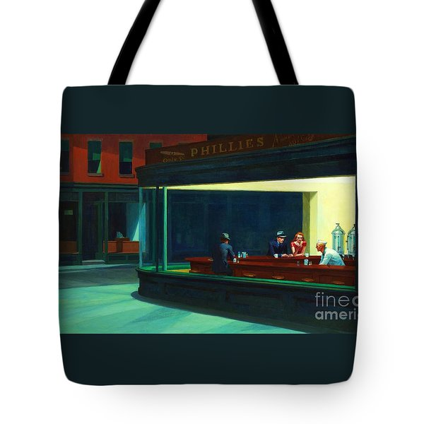 Nighthawks Tote Bag by Pg Reproductions