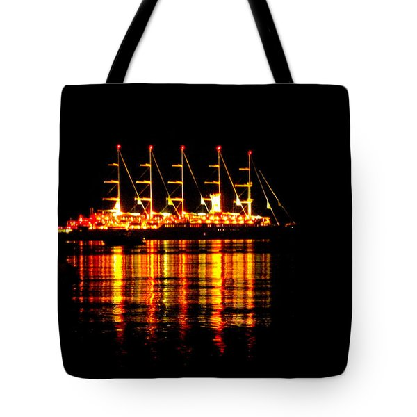 Nightlife On The Water Tote Bag