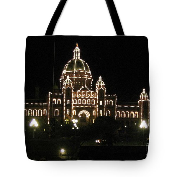 Nightly Parliament Buildings Tote Bag