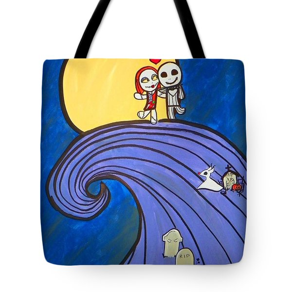 Nightmare Before Christmas Hill Cute Tote Bag