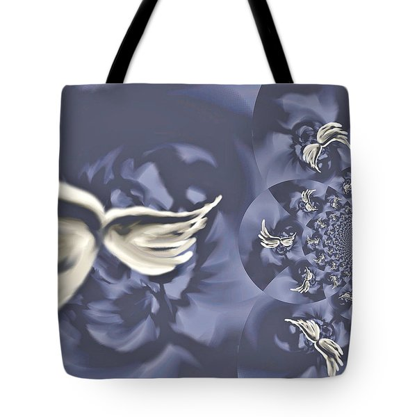 Nights In White Satin Tote Bag by Absinthe Art By Michelle LeAnn Scott