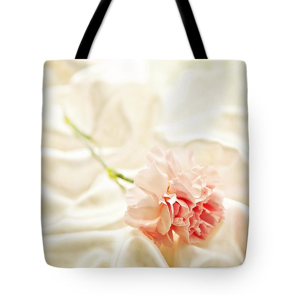 Nights In White Satin Tote Bag by Theresa Tahara