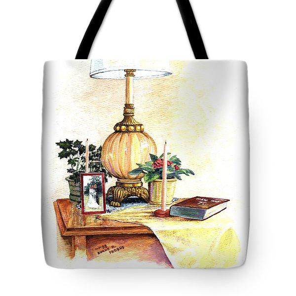 Nightstand Tote Bag by Duane R Probus
