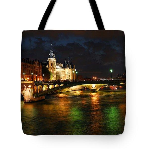 Nighttime Paris Tote Bag by Elena Elisseeva