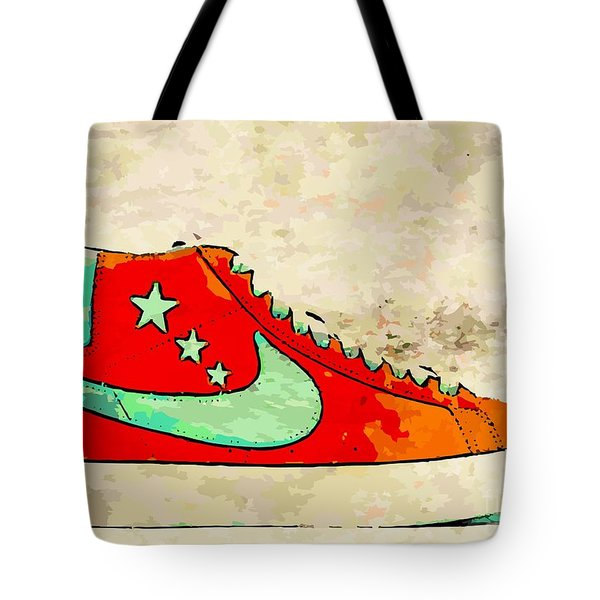 Nike Blazer Orange Tote Bag by Alfie Borg