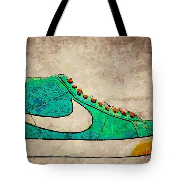 Nike Blazers Tote Bag by Alfie Borg