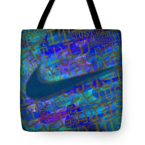 Nike Just Did It Blue Tote Bag