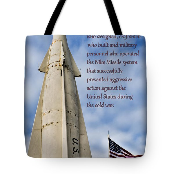Nike Missile Thanks Tote Bag