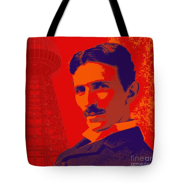 Nikola Tesla #1 Tote Bag by Jean luc Comperat