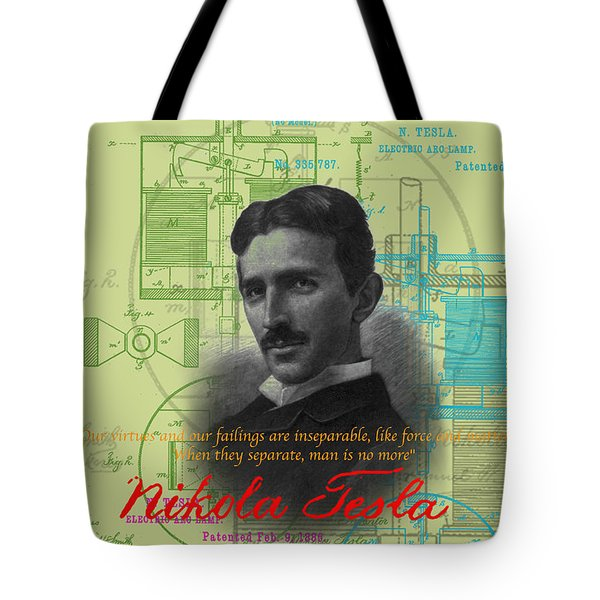Nikola Tesla #3 Tote Bag by Jean luc Comperat