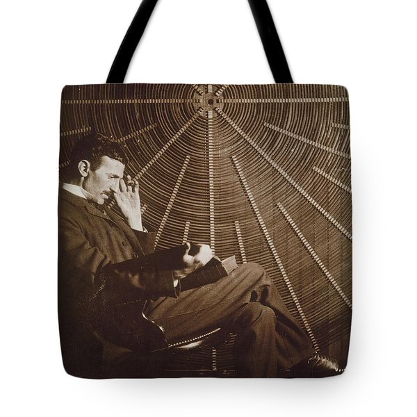 Nikola Tesla Tote Bag by Granger