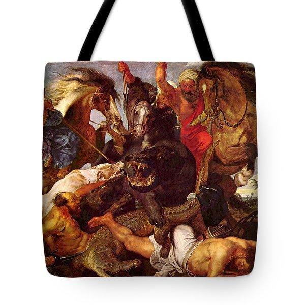 Nilpferdjagd Tote Bag by Peter Paul Rubens