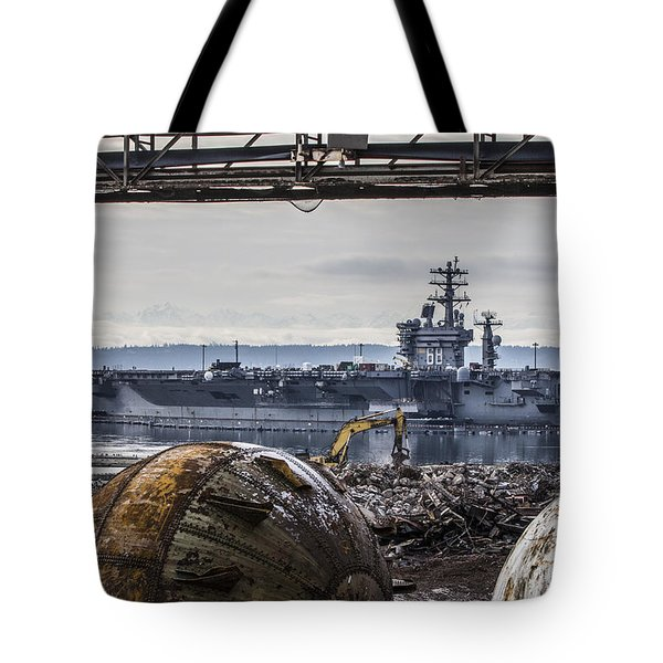 Nimitz - Port Of Everett Tote Bag