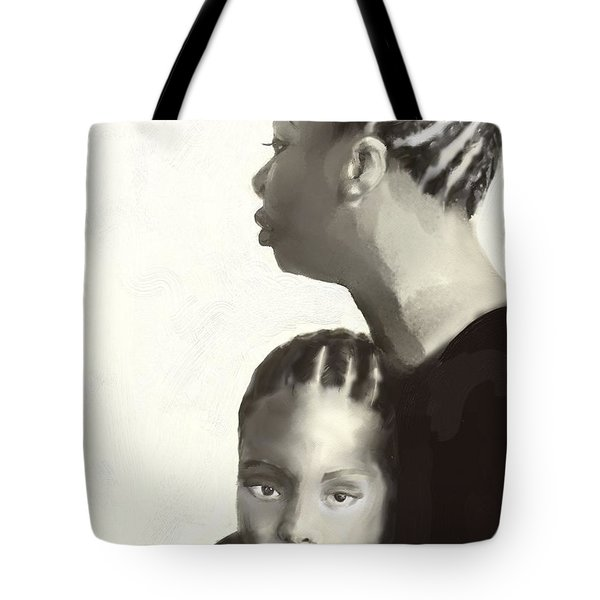 Tote Bag featuring the drawing Nina And Lisa Simone by Vannetta Ferguson