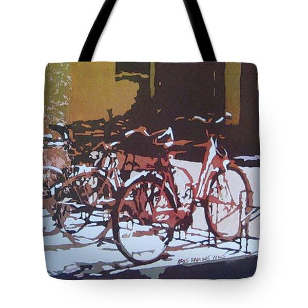 Nine Bicycles Tote Bag