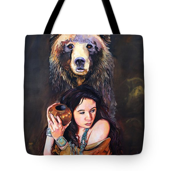 Nine Stars Woman - Bear Medicine Tote Bag