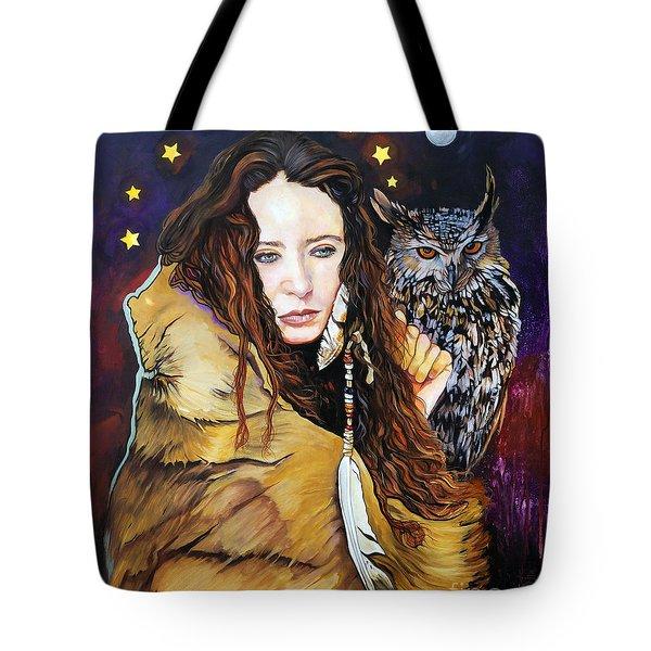 Nine Stars Woman / Owl Medicine Tote Bag
