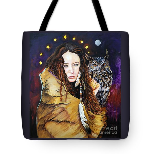 Nine Stars Woman / Owl Medicine Tote Bag