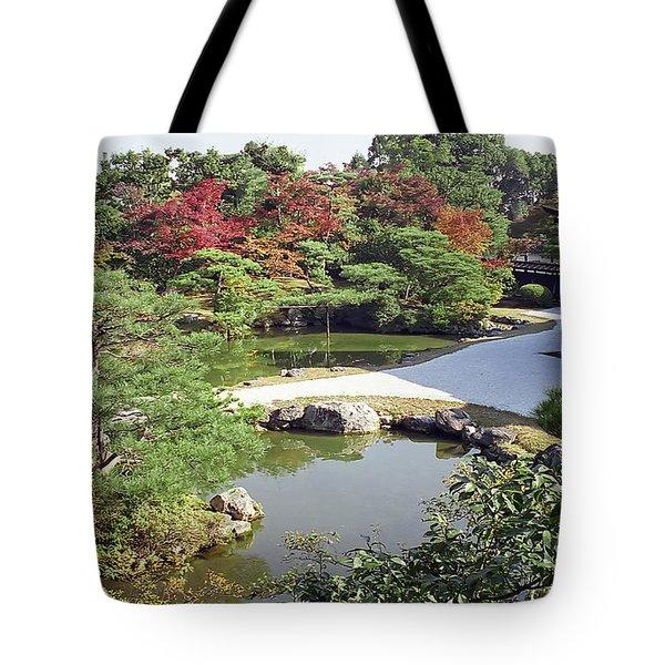 Ninna-ji Temple Garden And Pond - Kyoto Japan Tote Bag
