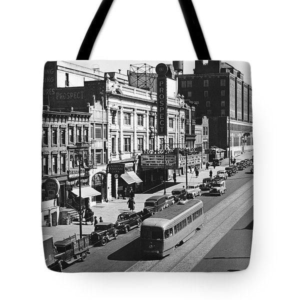 Ninth Street In Brooklyn Tote Bag by Underwood Archives