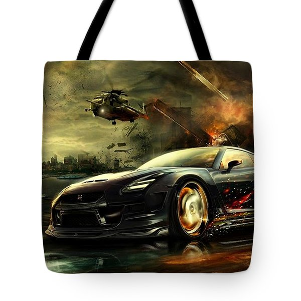 Nissan G T R Tote Bag by Movie Poster Prints