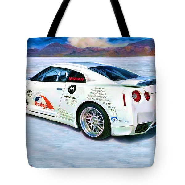 Nissan Salt Flats Tote Bag