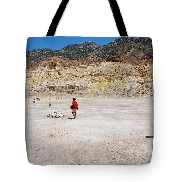 Nisyros Volcano Greece Tote Bag