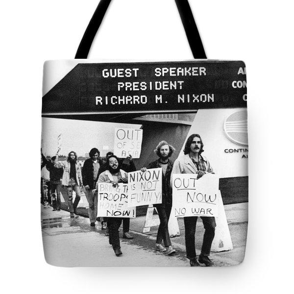 Nixon Protest In Anaheim Tote Bag