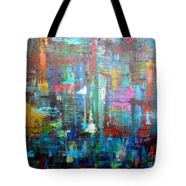 Tote Bag featuring the painting No. 1230 by Jacqueline Athmann