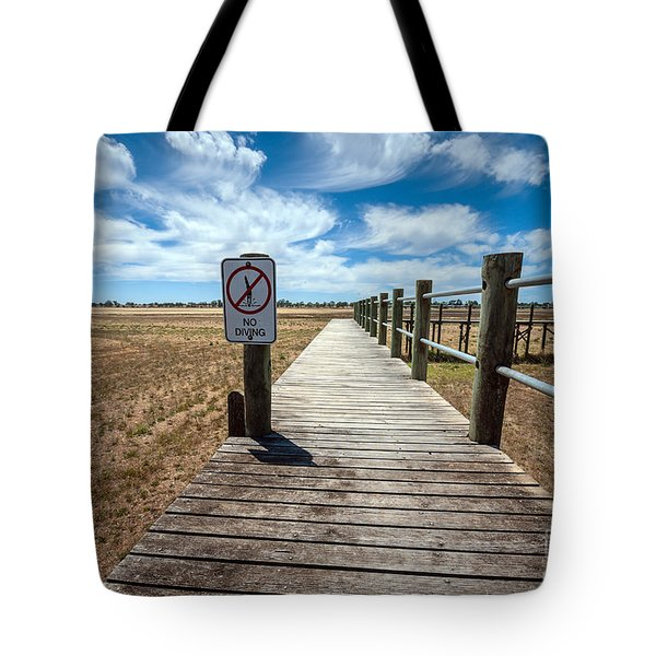 No Diving Tote Bag by Ray Warren