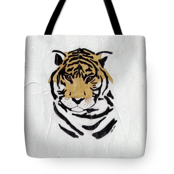 Tote Bag featuring the painting No Escape by Stephanie Grant