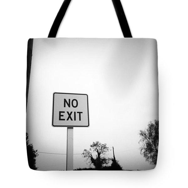 No Exit Tote Bag by Les Cunliffe