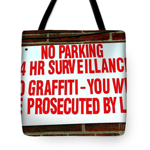 No Graffiti Tote Bag by Ed Weidman