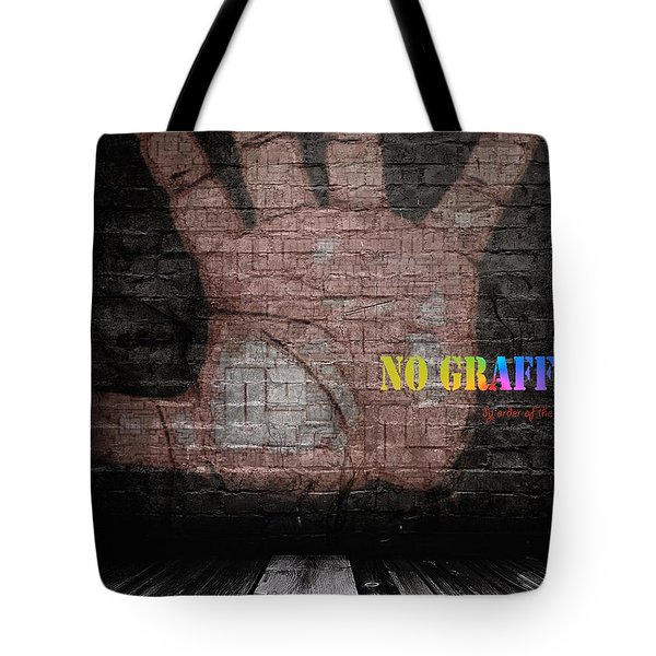 No Graffiti Tote Bag by ISAW Gallery