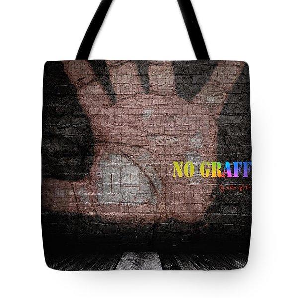 No Graffiti Tote Bag