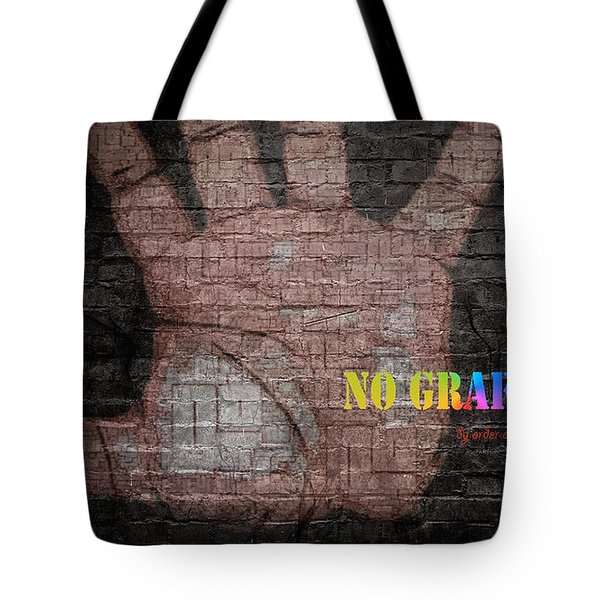 No Graffiti Tote Bag