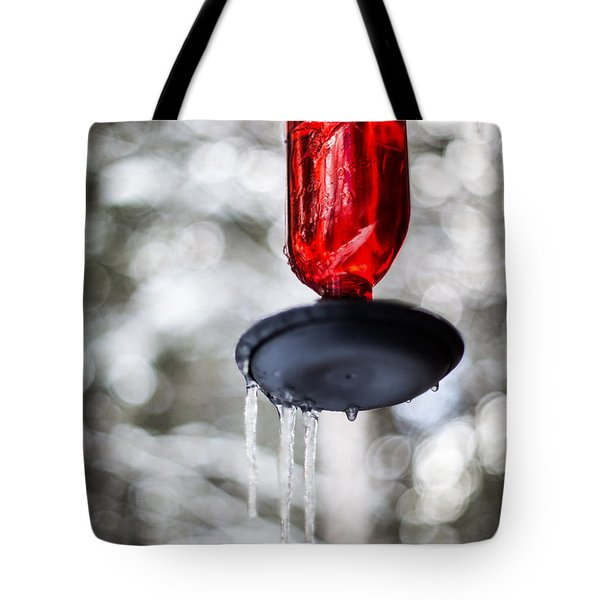 Tote Bag featuring the photograph No Hummingbirds Today by Aaron Aldrich