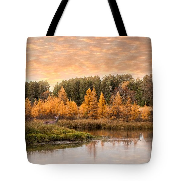 Tamarack Buck Tote Bag by Patti Deters